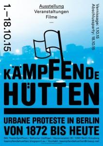 """Plakat """"Kämpfende Hütten"""""""